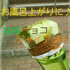 アイス/チョコレート/抹茶/ジャイアントコーン/フード お風呂上がりに♪抹茶チョコ🍫のジャイアン…