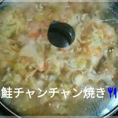 野菜タップリ/鮭のチャンチャン焼き/おうちごはん/フード 今日は久しぶりに、🐟桜マスの鮭のチャンチ…