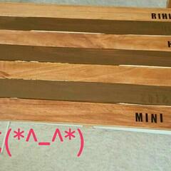 折りたたみ式ミニテーブル/DIY/100均/ダイソー/ハンドメイド 完成しましたー(*^-^*)  あこさん…