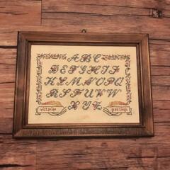 クロスステッチ/刺繍/フォロー大歓迎/LIMIAファンクラブ/LIMIAインテリア部/ハンドメイド またまたアルファベットの刺繍です。 クロ…