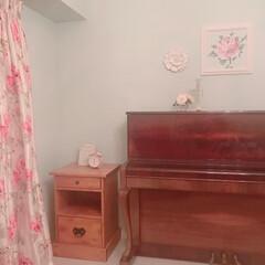 アニースローン/バラ/オーブ・レジェール/パシュミナ/ローラアシュレイ 壁をちょっと飾ってみました。 アレンジ色…