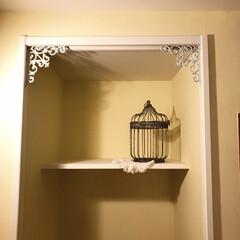 DIY/IKEA/鳥かごアレンジ/アニースローン/春のフォト投稿キャンペーン/フォロー大歓迎/... リーディングヌックの上に飾りをつけました…