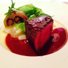 幸せごはん/ステーキ愛/肉/肉料理/フレンチレストラン/牛フィレ肉/... ホテルランチが大好きなわたくし。常に牛フ…