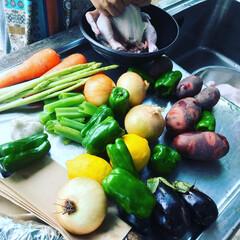 グルメ/鶏肉/バーベキュー/ダッチオーブン 久々のバーベキューです。 早速肉の仕込み