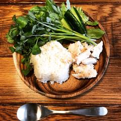 炊飯器レシピ/カオマンガイ/グルメ/おうちごはん 朝食からカオマンガイ。 初炊飯器カオマン…