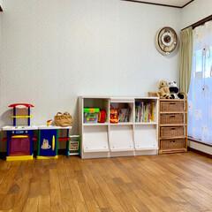 オモチャ収納/リミアな暮らし/収納/雑貨/住まい/掃除/... 子ども部屋片付け。 よく使うおもちゃを出…