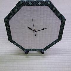 畳/時計/いぐさ/い草/イ草/藺草/... 国産畳表を使用した置時計  過去の作品で…