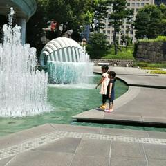 和田倉噴水公園/結婚記念日/ランチビュッフェ/噴水/グルメ/建築 結婚10周年の記念に、家族で挙式を挙げた…