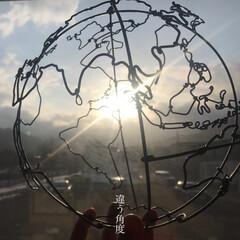 針金アート/ワイヤークラフト/ワイヤーアート/地球柄/地球儀/宇宙/... 宇宙、星好きにはたまらない!地球型ランプ…(2枚目)