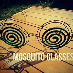 キャンプ/ハンドメイド雑貨/ハンドメイド/ワイヤークラフト/虫よけ/蚊取り線香/... 蚊取り線香スタンドのメガネタイプを、ワイ…