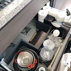 収納/キッチン収納/キッチン雑貨/掃除 キッチンシンクの引き出し収納。  シンク…(1枚目)