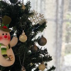 クリスマス2019/クリスマス/クリスマスツリー/ディスプレイ/インテリア/リビング/... 毎年飾るツリーは小4の娘が飾りつけをして…