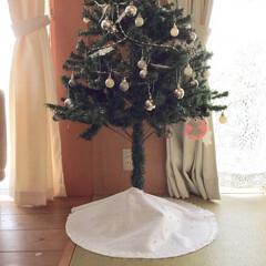 リミアな暮らし/暮らし/クリスマス/インテリア/リビング/手作り/... ウエディングドレスをイメージして作ったツ…(1枚目)