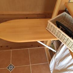 私の家/ここが好き/私の家のここが好き/家事/楽家事/家づくり/... キッチン横に取り付けてももらった折り畳み…