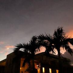 秋の空/秋の夕焼け/台風/宮古島/朱色/フォロー大歓迎/... 前picのガーリーな空とは一変して数分後…