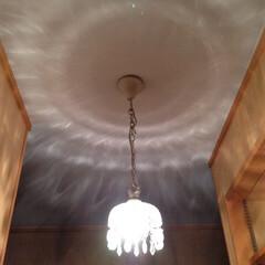 我が家の照明/照明/照明好き/シャンデリア/プチ/インテリア/... 我が家の小さな小さなシャンデリア♡ 照明…