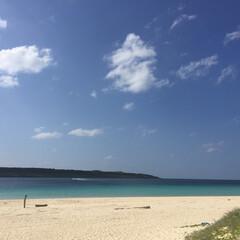 おでかけワンショット/おでかけ/ワンショット/青い海/青い空/白い砂浜/... 東洋一と言われる真っ白な砂浜が広がる「マ…