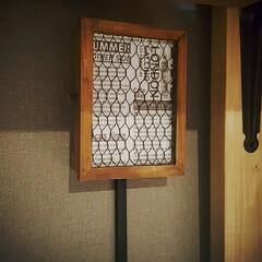 カフェ風DIY/ブルックリン柄/ブルックリン風/コンセントカバー/コンセント隠し/配線隠し/... 洗濯機のコンセントと配線を、100均グッ…(1枚目)