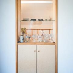 飾り棚/リビング 廊下と居間の間仕切り壁の中に、飾り棚をつ…