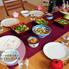 おもてなし/パーティー/和食/ちらし寿司/鶏肉/大根/... 先日、大切な友人を招いてのランチ会をしま…