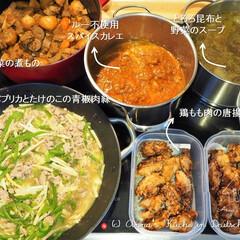 煮もの/カレー/青椒肉絲/作り置き/常備菜/料理研究家/... 一週間分の作り置きです。 ★根菜の煮もの…(1枚目)