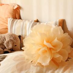 ジャンボフラワー/子供部屋/女の子の部屋 フワフワなジャンボフラワーを飾ってみまし…
