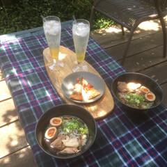 ステイホーム/庭カフェ/おうちごはん/ランチ/暮らし/DIY ステイホームを楽しむために 庭カフェ開催…(1枚目)