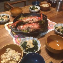 竹の子/金目鯛/おすすめメニュー/旬の食材/料理 昨日の夜のメニュー ★金目鯛の煮付け ★…