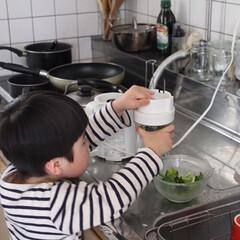 グリーンスムージー/おうちごはん/暮らし/キッチン家電/キッチン雑貨/ミキサー 保育園お休み中の野菜不足を補うため、ほぼ…