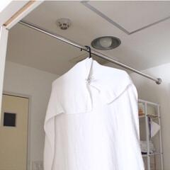 賃貸暮らし/つっぱり棒/暮らし 2019/10/20 Sun 洗面所に付…