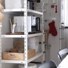 キッチン収納/掃除/暮らし 休日、家に居る時間が増えたので棚もちょこ…