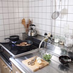 TOSARYU 四万十ひのき スタンド付きまな板 S(まな板)を使ったクチコミ「コウケンテツさんレシピでトンテキ。またタ…」(1枚目)