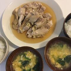 イッタラ ティーマ プレート 26cm ホワイト | イッタラ(皿)を使ったクチコミ「またまたコウケンテツさんレシピで、茹で鶏…」