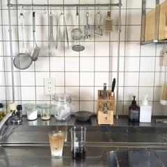 貝印 KAI T型 ピーラー SELECT100 DH-3000   貝印(その他キッチン、台所用品)を使ったクチコミ「TGIのビーカーにコーヒーを淹れて、二層…」(1枚目)
