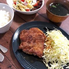豚のしょうが焼き/レザークラフト/炭火焼肉丼/春のフォト投稿キャンペーン 今日の晩御飯(*´╰╯`๓)♬  これで…
