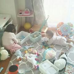 子育て/姉妹/日常/収納/おもちゃ/子供 子供の遊び場として使ってるダイニング。毎…(2枚目)