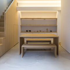 テーブル/椅子/大工さんが作った家具/タモ/オーダーメイド/特注 大工さんが作った家具シリーズ。 同じもの…