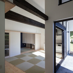 二世帯住宅/デザイン住宅/建築家住宅/自由設計/建築/住まい/... 石川淳建築設計事務所で設計したシンプルデ…