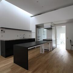 建築/住まい/シンプル/フローリング/建築家と建てる家/建築家と建てた家/... シンプルなオーダーキッチン