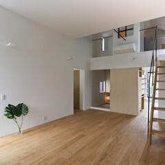 建築/住まい/シンプル住宅/ロフト/ミニマルデザイン ロフトのあるリビング  仙台のハコノオウ…