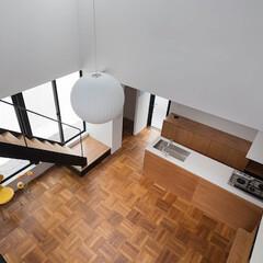 建築/住まい/建築デザイン/吹抜/シンプル住宅 吹抜見下ろし OUCHI-43