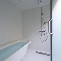 建築/住まい/浴室/置きバス/OUCHI-41 FRP防水壁のシンプルな浴室