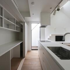 建築/住まい/キッチン/オーダーキッチン/シンプル住宅/建築家と建てる家/... 造作のキッチン背面収納  家を建てるのが…