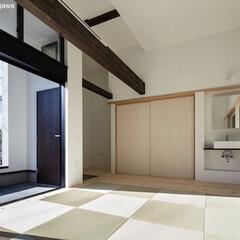 二世帯住宅/デザイン住宅/建築家住宅/OUCHI-40/自由設計/建築家と建てた家/... 石川淳建築設計事務所で設計したシンプルデ…