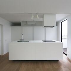 建築/住まい/キッチン/オーダーキッチン/シンプル住宅/建築家/... オーダーキッチン  この家ではキッチンは…(1枚目)