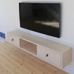建築/住まい/注文住宅/造作家具 造作テレビ棚  作り付けのテレビ棚です。…