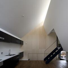 建築/住まい/建築家と建てる家/建築家と建てた家/オーダーキッチン/二世帯住宅 オーダーキッチンのある子世帯リビングダイ…