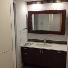 リノベーション/マンション/洗面 築30年超のマンションをリノベーション。…