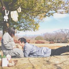 公園/ピクニック/セルフフォト/もうすぐママ/LIMIAおでかけ部/マタニティ/... もうすぐ会える☻
