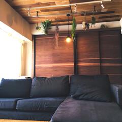 オーダー家具/広々リビング/空間デザイン/リノベーション/リフォーム リノベーションした空間です ウォールナッ…